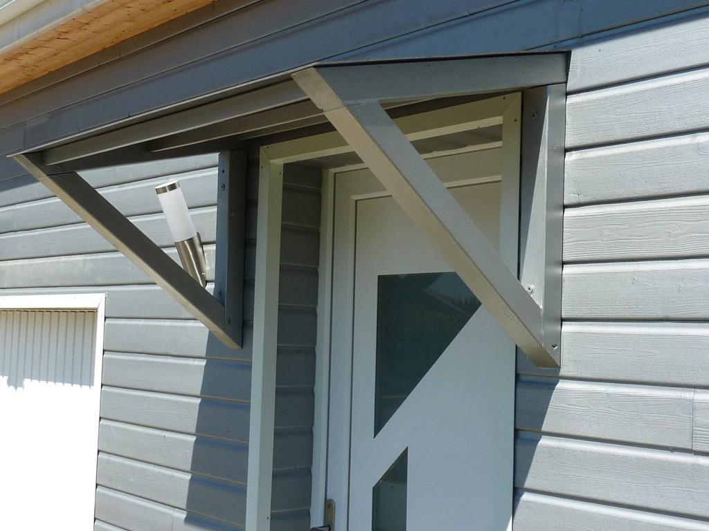 Marquise de porte en bois - Marquise pour porte de garage ...